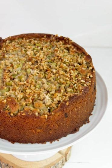 Rezept Rhabarber Haselnuss Kuchen