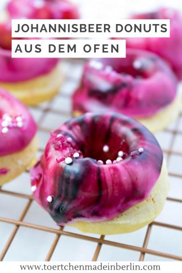 Rezept Mini Donuts mit Johannisbeeren aus dem Ofen
