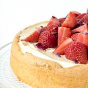 Rezept Biskuitkuchen Erdbeeren
