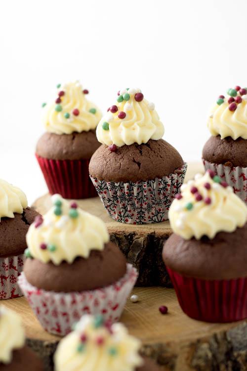 Rezept Weihnachten Mini Cupcakes Lebkuchen