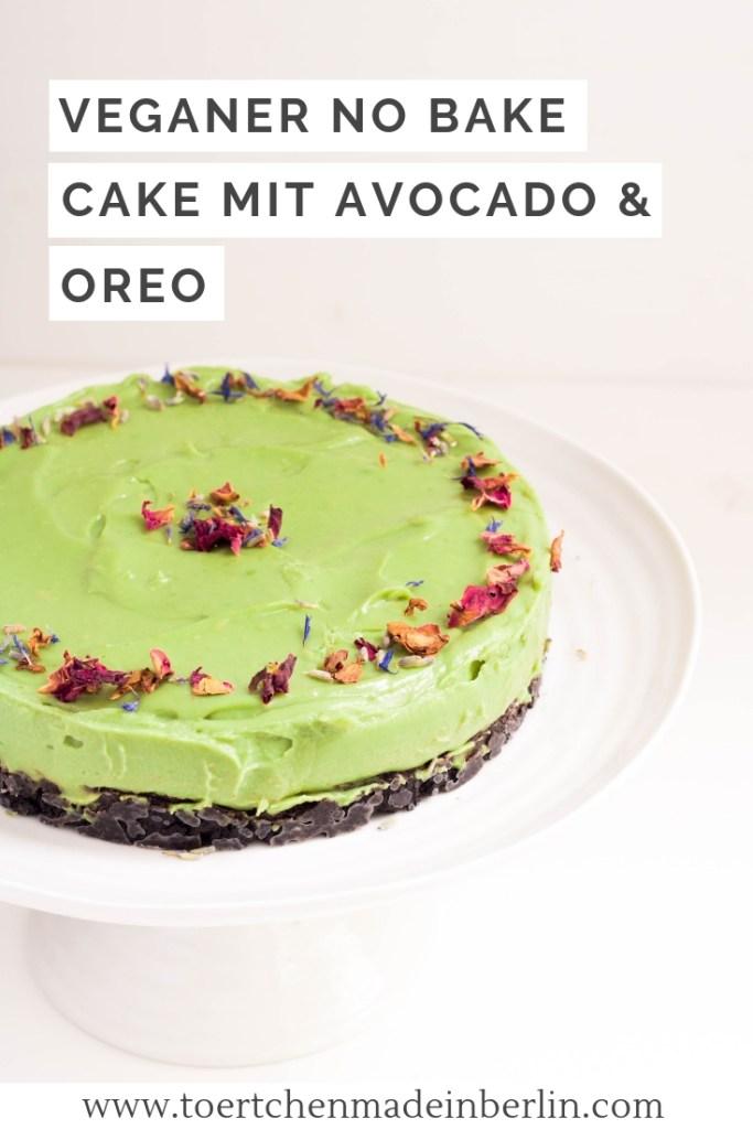 Rezept Veganer No Bake Cake Avocado Oreo