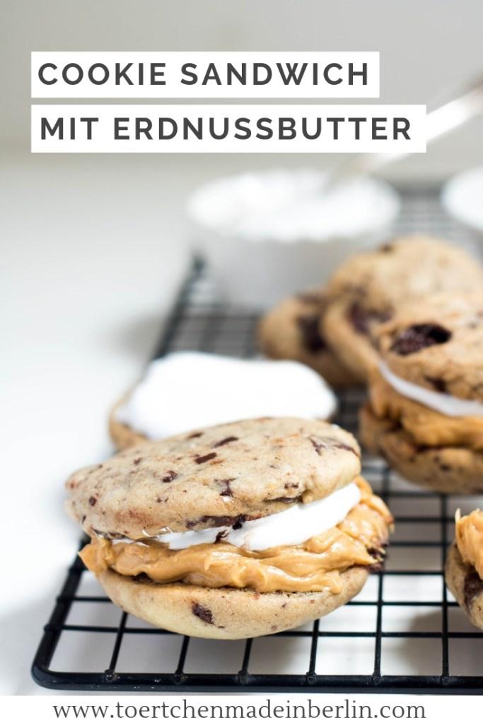 Rezept Cookie Sandwich mit Erdnussbutter und Marshmallow