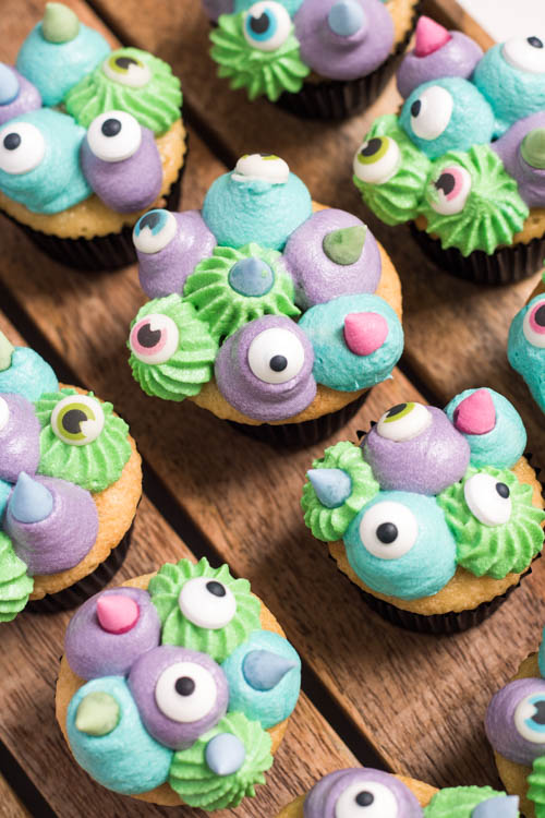 Rezept Halloween Monster Cupcakes