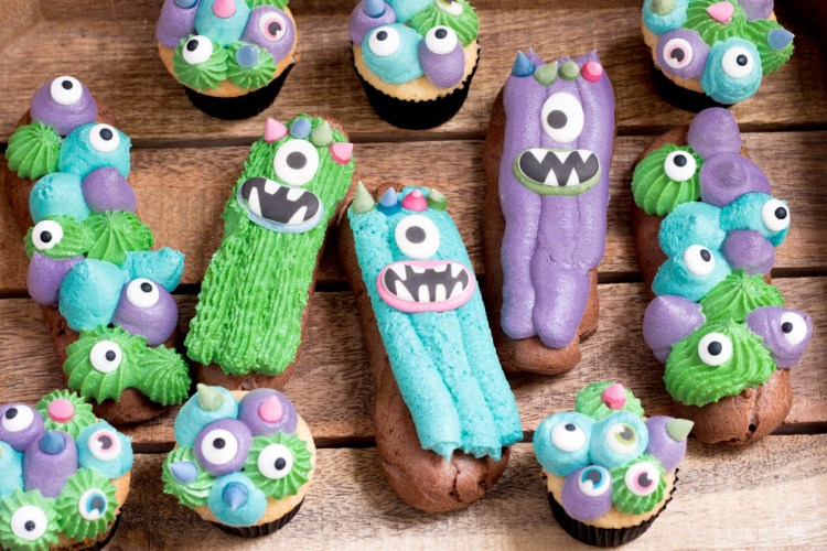 Rezept Halloween Monster Eclairs