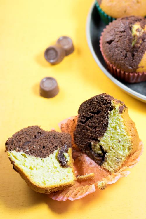Rezept Schoko Erdnuss Muffins
