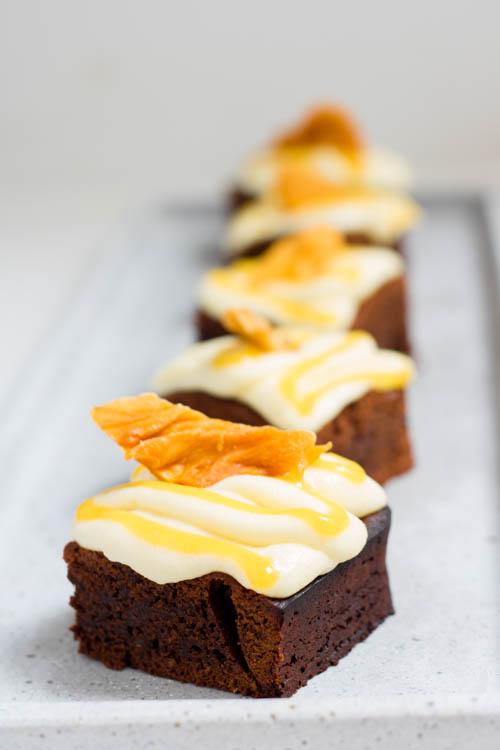 Rezept Brownie mit Mango