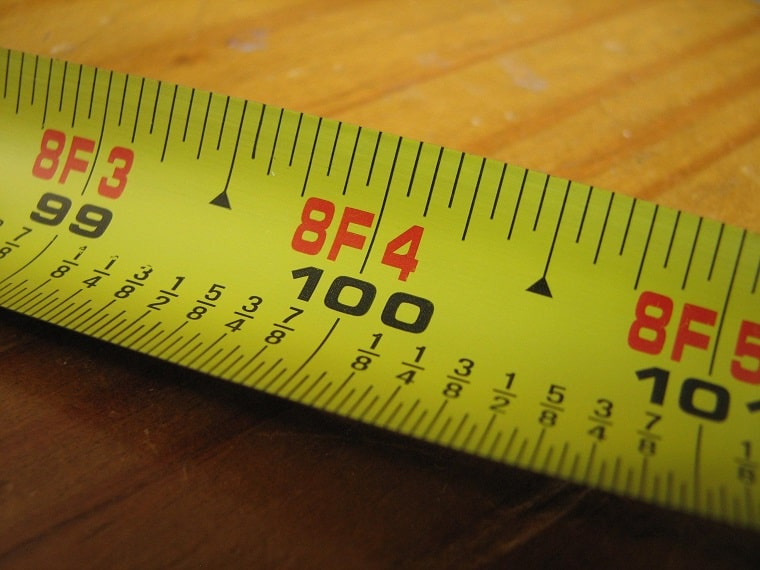 tape measure - measure your thoughts
