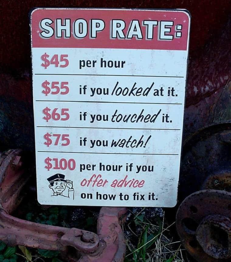 auto repair rates