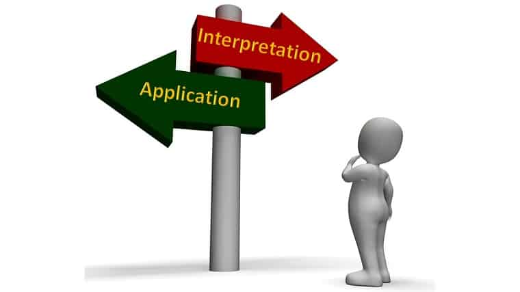 application or interpretation