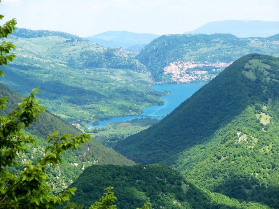 Lago di Barrea (from Monte Marsicano)
