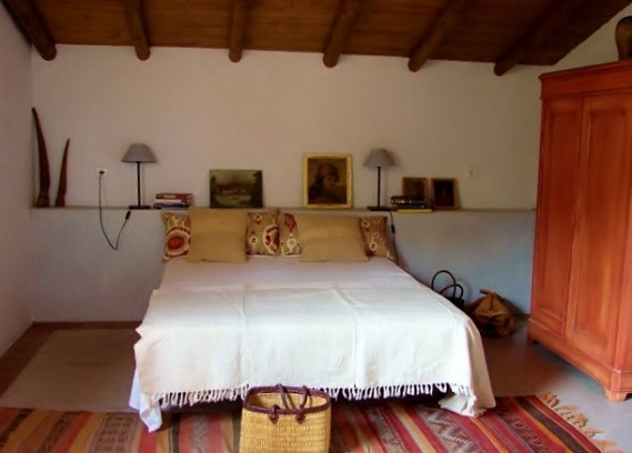 bedroom with roof terrace at cortijo