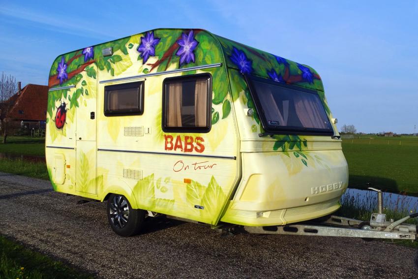 Caravan Babs Graffiti 2