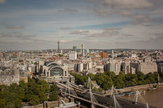 charing cross station from above