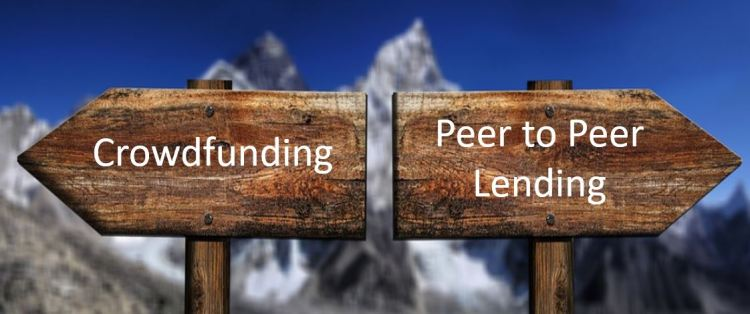 People often confuse Crowdfunding with Peer to Peer lending.