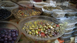 Olives from the Ortigia market