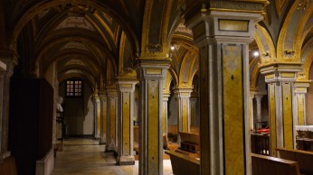 In the basement of the Bari Cathedral.