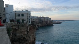 Checking out the gorgeous costal views from Polignano a Mare.
