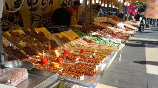 Everyone's all about these roasted and candied nuts. I saw about 100 stalls selling the exact same thing.