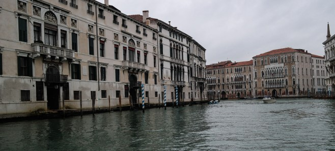 While getting lost in the side streets is a ton of fun, sometimes its nice to rest your feet and take a ride on the Vaporetto - Venice's water bus system.