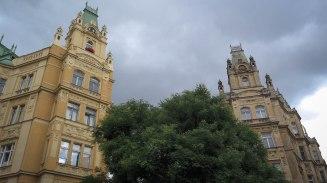 Prague was rainy