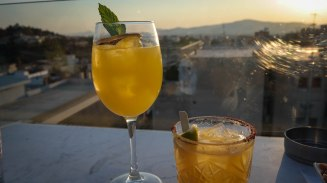 """A for Athens makes fabulous cocktails! If you like ginger, get the """"Spicy Tommy"""""""