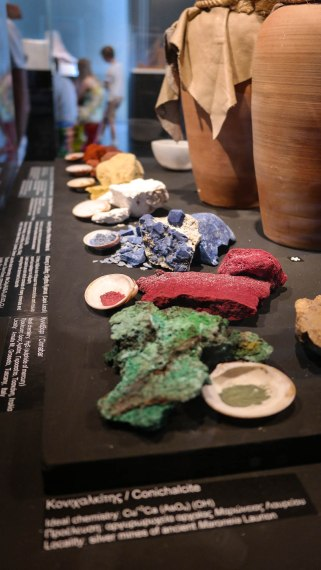Pigments used to paint sculptures and buildings in Ancient Greece