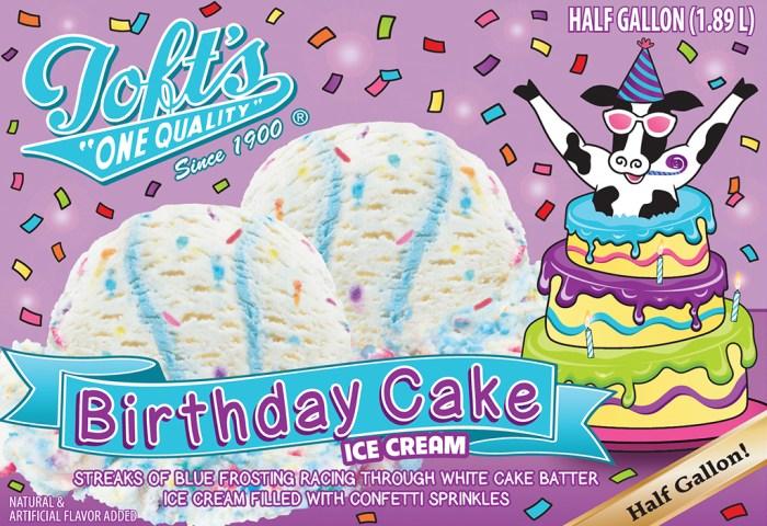 Birthday Cake Toft Dairy