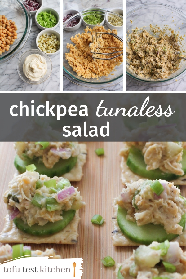 chickpea tunaless salad for pinterest
