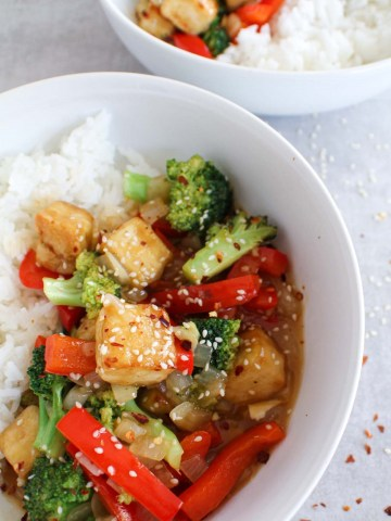 1 bowl general tso tofu