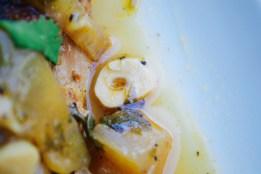 braised garlic slice