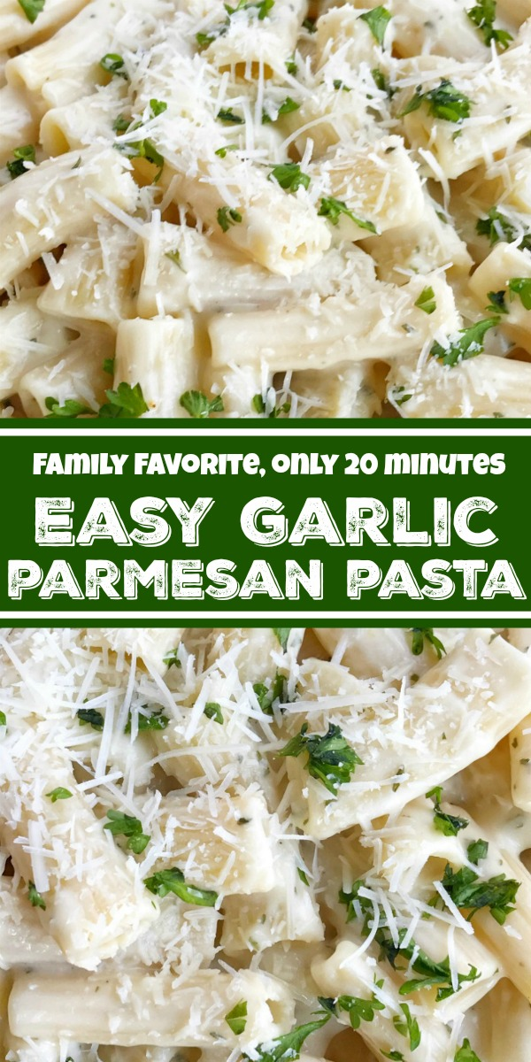 Easy Garlic Parmesan Pasta | Easy Pasta Recipe | Pasta Recipes | You can have this easy garlic parmesan pasta recipe on the dinner table in just 20 minutes! A quick & easy weeknight dinner recipe that everyone will love. This is my family's most loved & requested recipe. #pastarecipes #easyrecipe #dinner #pasta #recipeoftheday