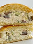 Pineapple Chicken Salad Sandwiches with chunks of chicken, crushed pineapple, grapes, green onions, almonds, and celery in a deliciously creamy dressing! We love this chicken salad with croissants.