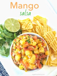 Mango Salsa- so delicious, refreshing, and addicting! www.togetherasfamily.com