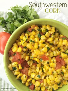 SOUTHWESTERN CORN | A quick side dish. Goes great with Mexican food! www.togetherasfamily.com