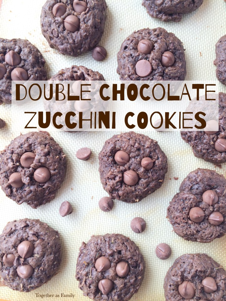 DOUBLE CHOCOLATE ZUCCHINI COOKIES| www.togetherasfamily.com