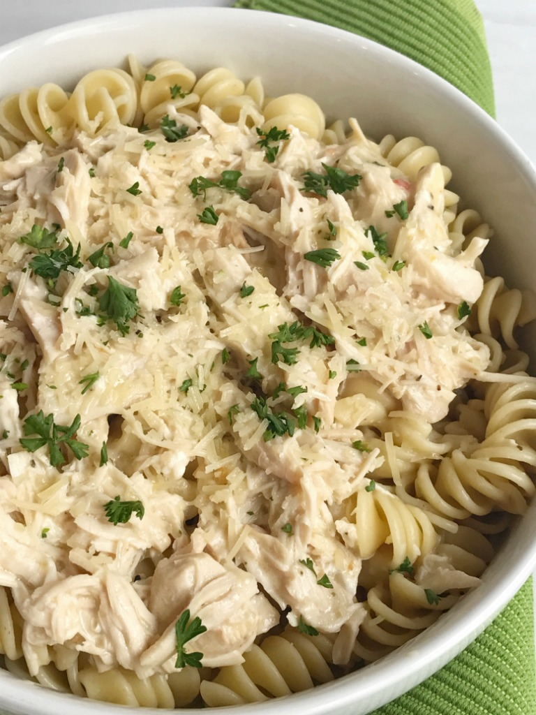 Slow cooker creamy italian chicken together as family for Something delicious to eat for dinner