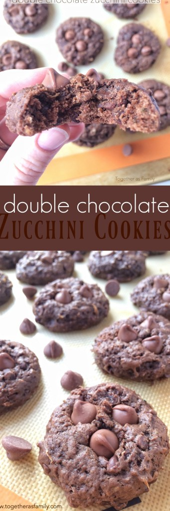 Double Chocolate Zucchini Cookies | Together as Family