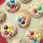 Thick, soft, chewy, melt-in-your-mouth delicious, and loaded with peanut butter m&m's. These peanut butter m&m cookies are sure to be a hit and I bet you that they won't last long!