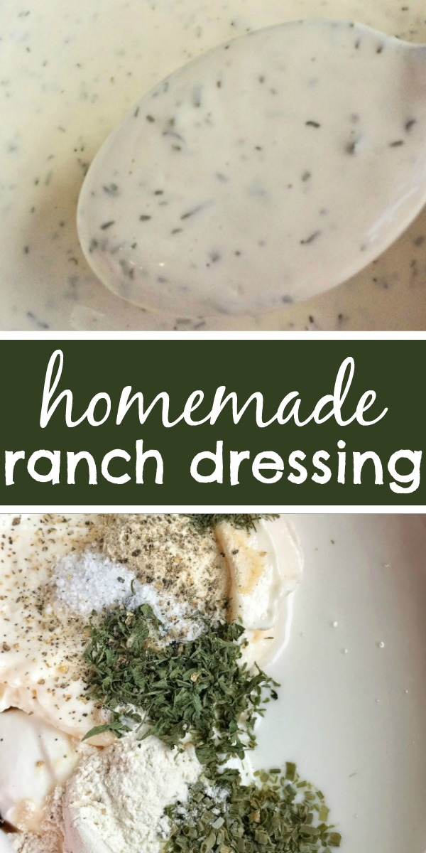 The Best Homemade Ranch Dressing | Ranch | Homemade Salad Dressing | You can make delicious homemade ranch dressing in just minutes! This is the best ranch salad dressing you'll ever try! #easyrecipe #homemade #ranch