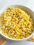 This easy slow cooker creamed cornis only 5 ingredients! So creamy, delicious, and way better than the canned stuff. This would make a great side dish for any dinner.