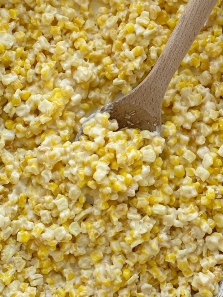 Slow Cooker Creamed Corn is only 5 simple ingredients. So creamy, easy to make, and way better than the canned stuff. Creamed corn is the perfect side dish for any meal.
