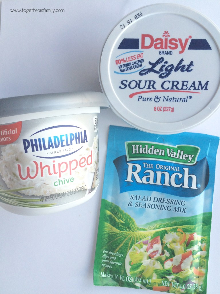 {3 ingredients!} CHIP DIP   www.togetherasfamily.com