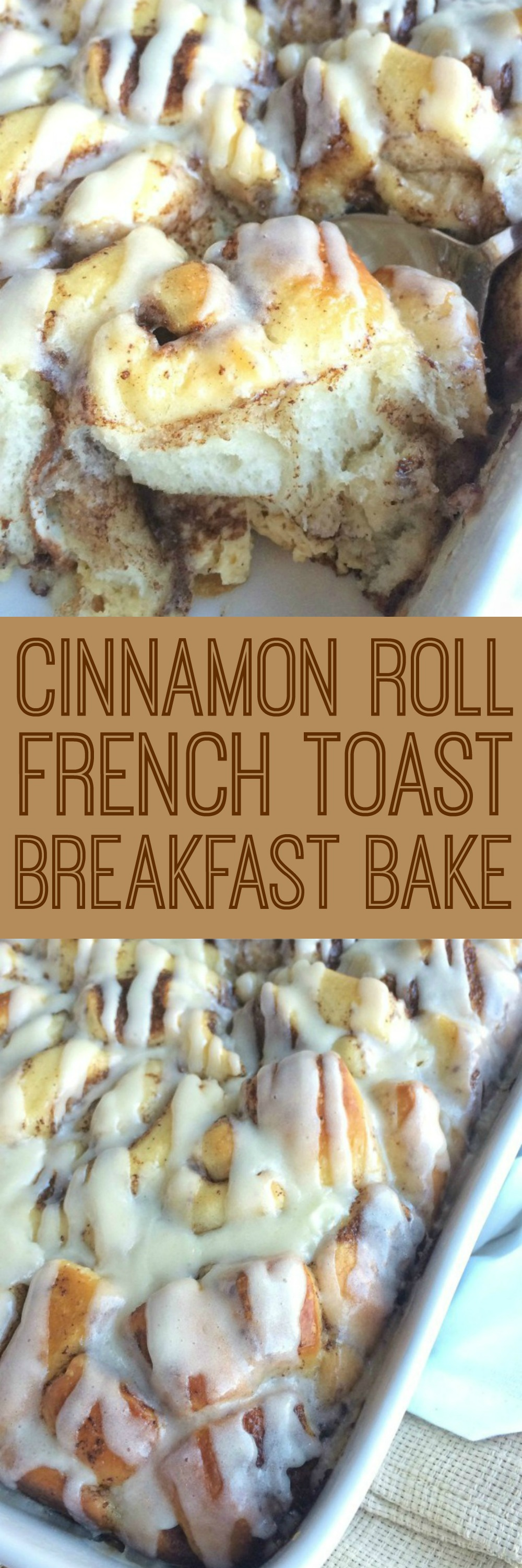 Easy, Frozen Cinnamon Rolls Soaked In A Milk & Egg Mixture Overnight Bake  It