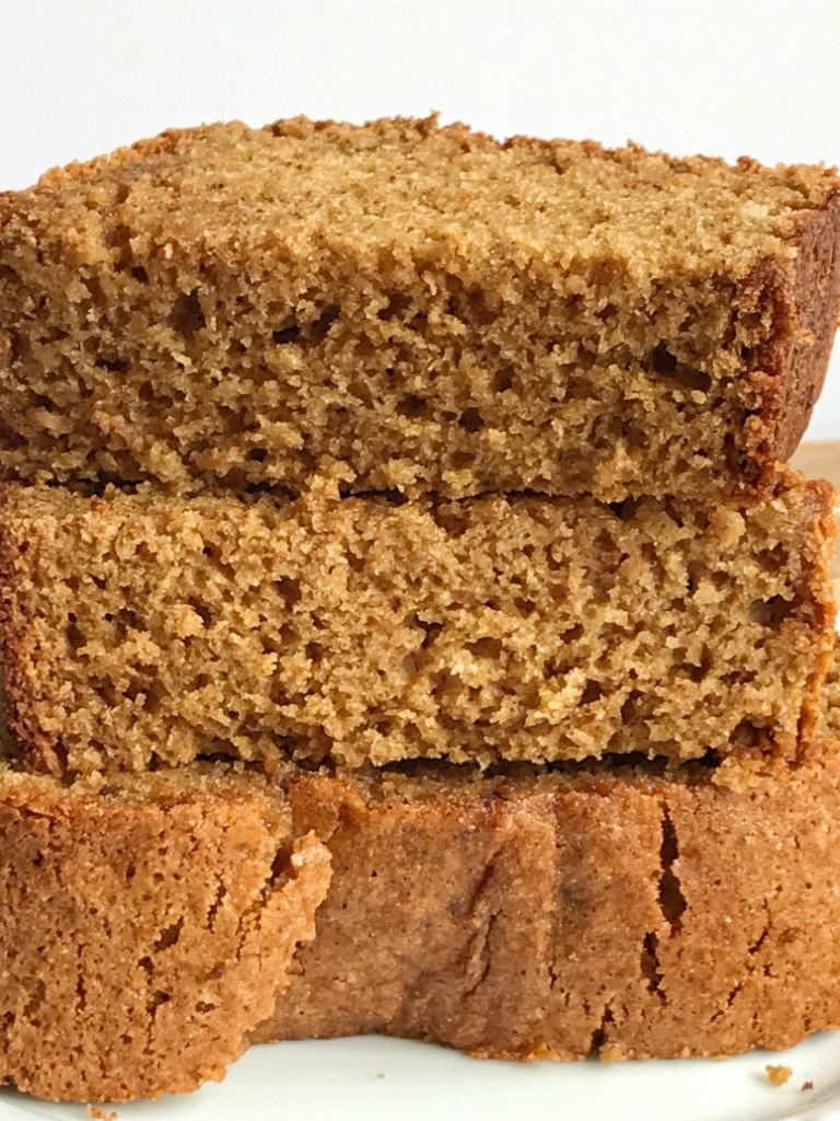 Whole grain cinnamon applesauce bread requires no yeast and it's so simple to make. It's the perfect healthy after school snack or even breakfast. Loaded with applesauce and whole grains this bread will be a hit