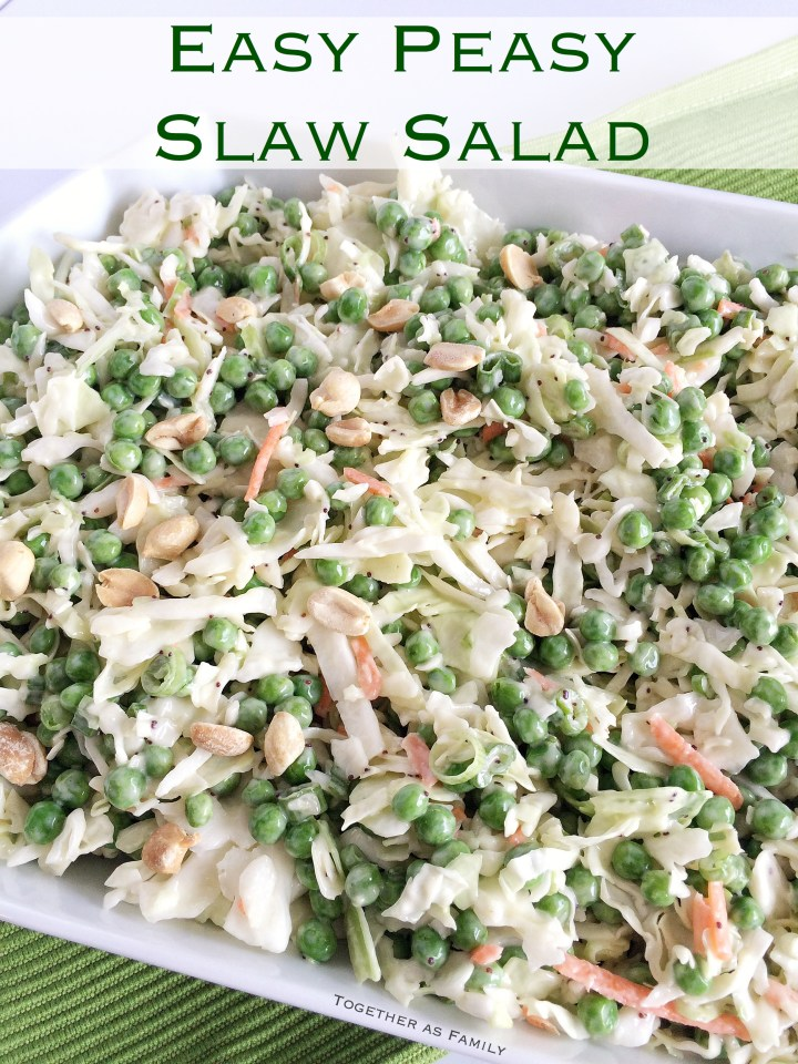 EASY PEASY SLAW SALAD | only 5 ingredients & it's incredible! www.togetherasfamily.com