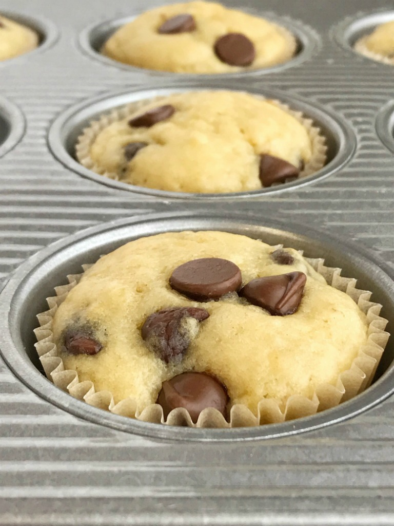 Greek yogurt banana muffins are loaded with chocolate chips and protein rich Greek yogurt. A quick and simple banana muffin recipe with added nutrition. If you have browned bananas then these banana muffins are a must make!
