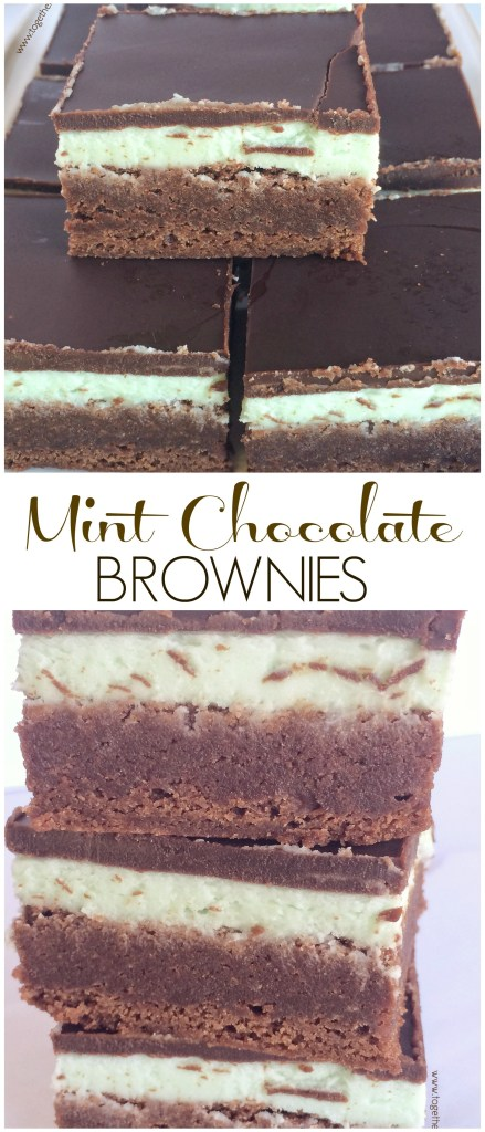MINT CHOCOLATE BROWNIES | www.togetherasfamily.com