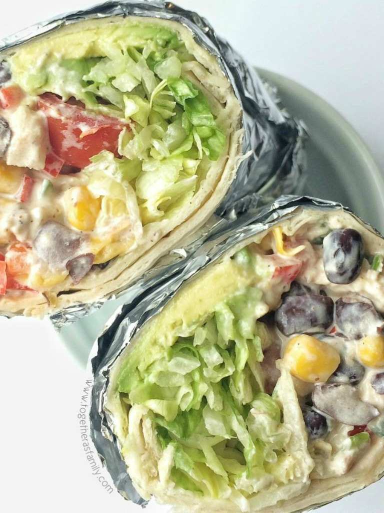 Santa Fe Chicken Salad Wraps - Together as Family