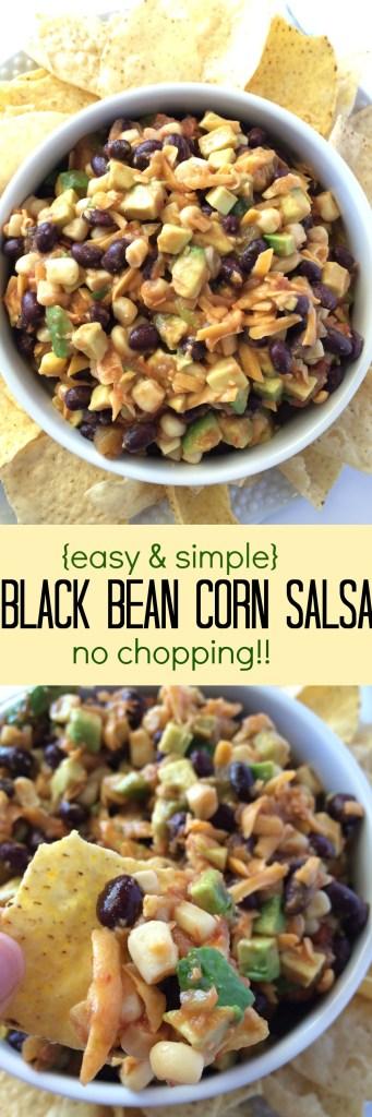Black Bean Corn Salsa | fast & simple, no copping! www.togetherasfamily.com