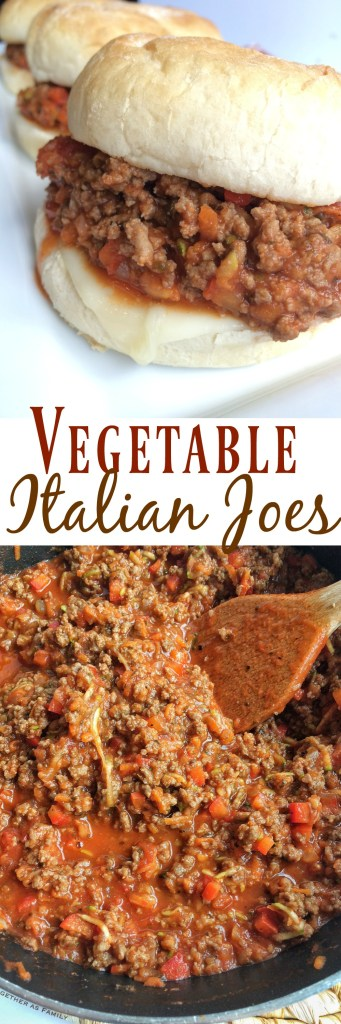 VEGETABLE ITALIAN JOES | Together as Family